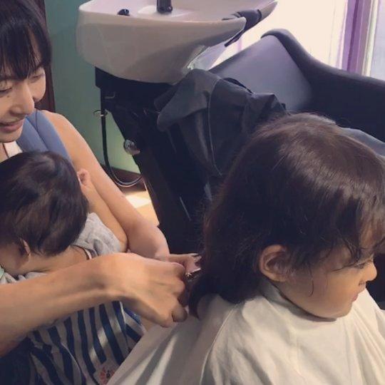 断髪式 ご希望あれば、お母さん お父さんが、子供の髪の毛を断髪できますよ。#hairsalonblue #白岡市美容室 #断髪式