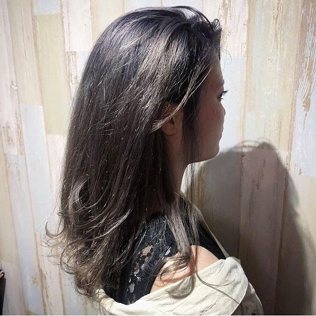 ダブルカラー パープルカラーとっても、綺麗な色で、似合ってます夏休み限定のカラー、楽しんでください#hairsalonblue #白岡市美容室 #ダブルカラー#パープルカラー#夏休みカラー