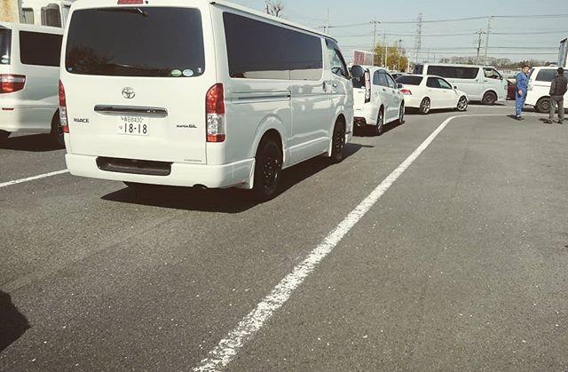 おはようございます。ブルーモータースです。本日は、ハイエースの継続車検です。コロナ対策で車検期限延長措置があります。まあ、でも、自賠責保険の絡みもあるので、きちんと通しましょう。#bluemotors #継続車検#ハイエース車検
